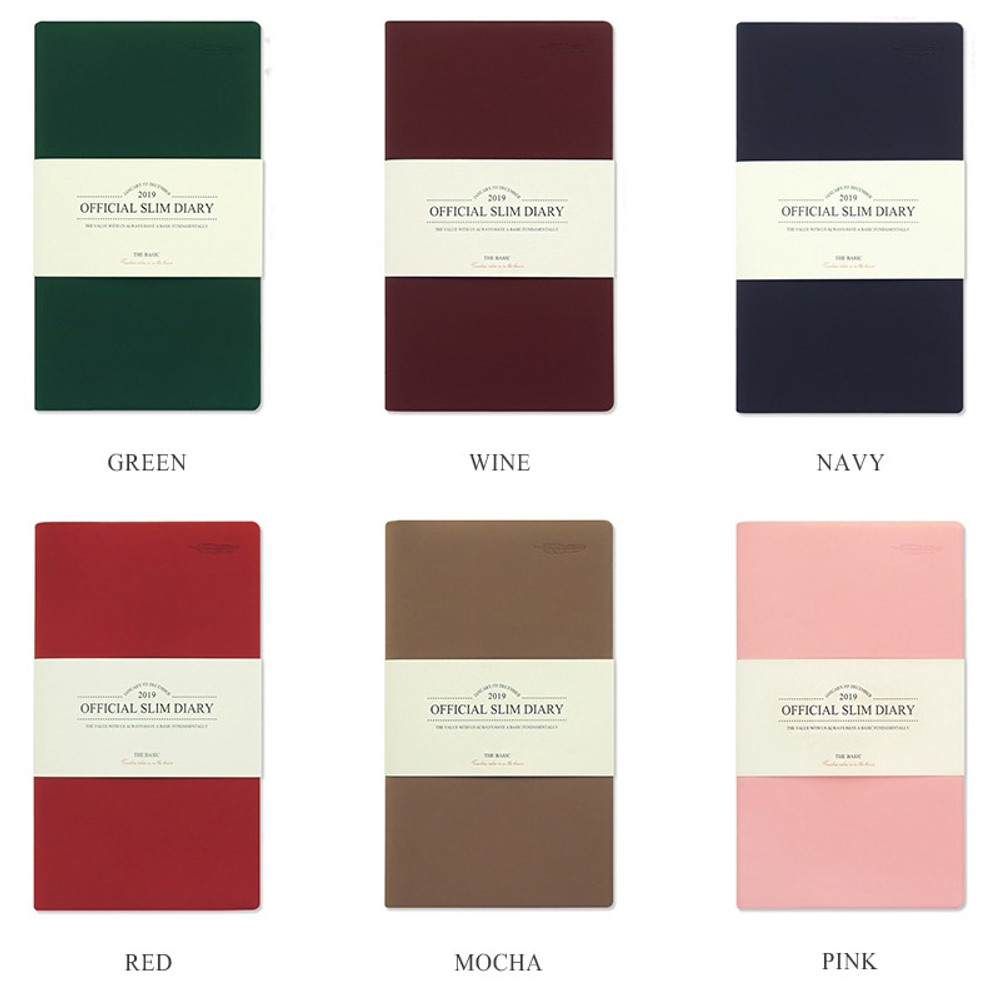 Color - The Basic official slim undated weekly diary