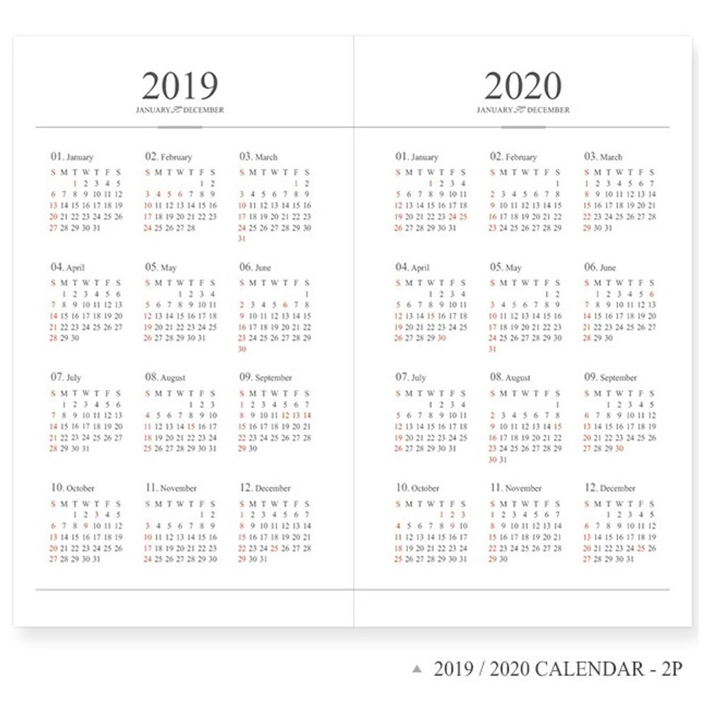 2019 / 2020 calendar