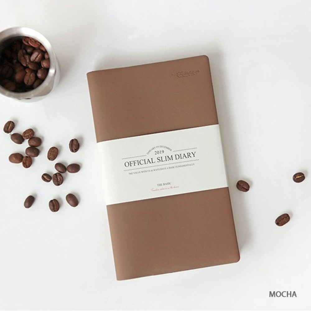 Mocha - The Basic official slim undated weekly diary