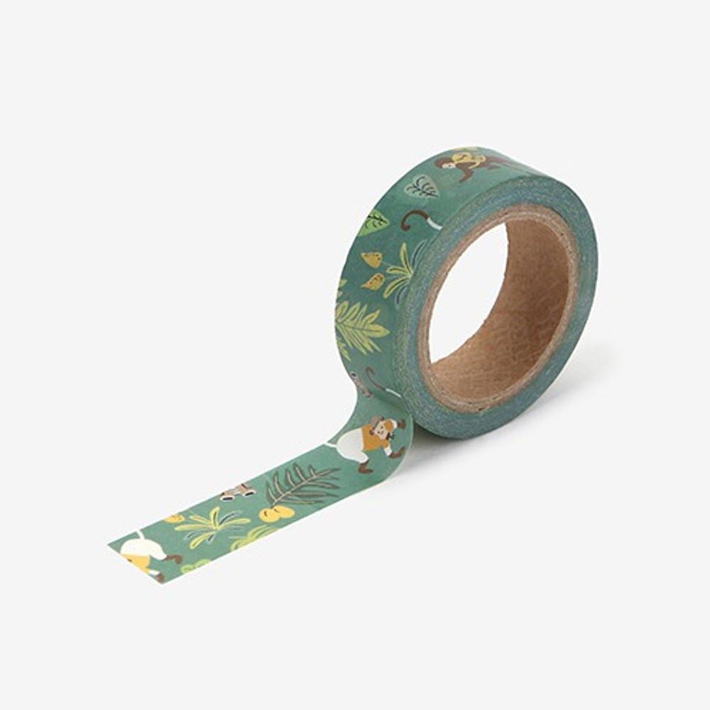 Jungle single roll washi masking tape