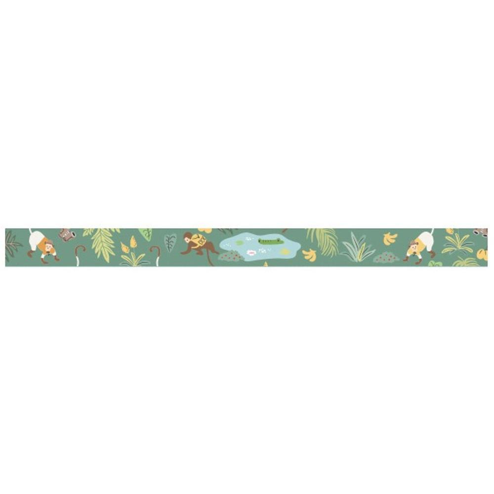 Detail of Jungle single roll washi masking tape