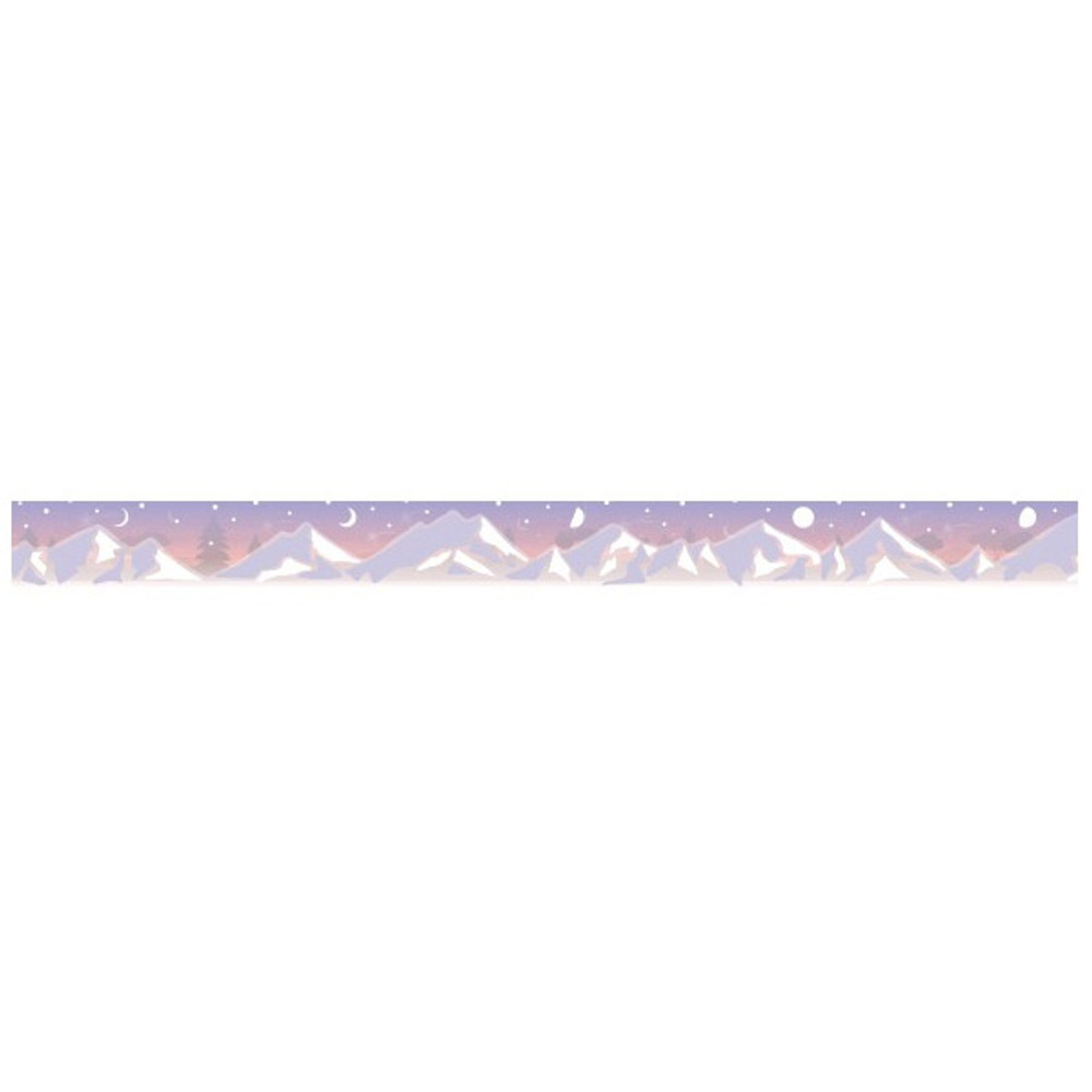 Detail of Snow mountain single roll washi masking tape