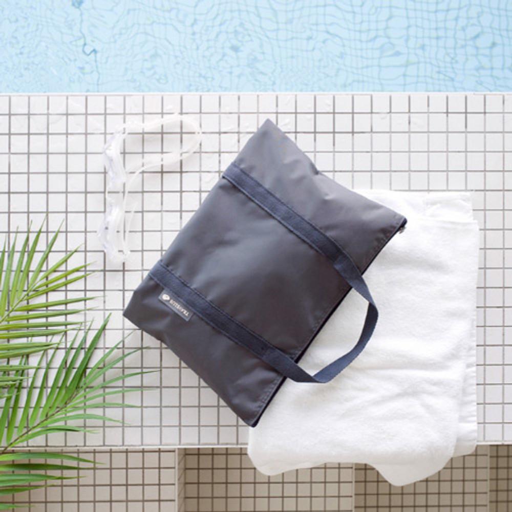 Charcoal gray - Byfulldesign Travelus travel medium zipper tote bag