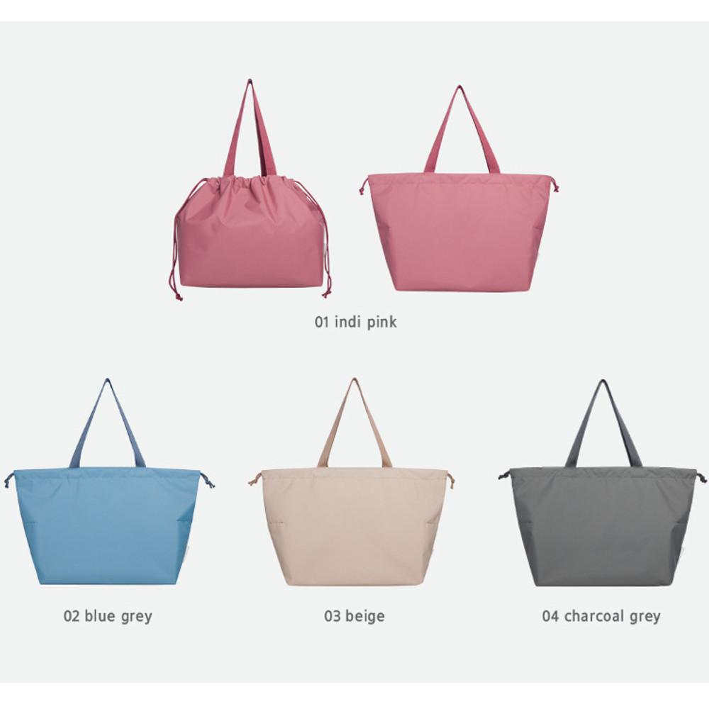 Color - Travelus travel pocket drawstring shoulder tote bag