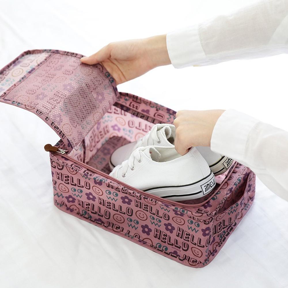 Monopoly Enjoy journey travel zip shoes pouch bag