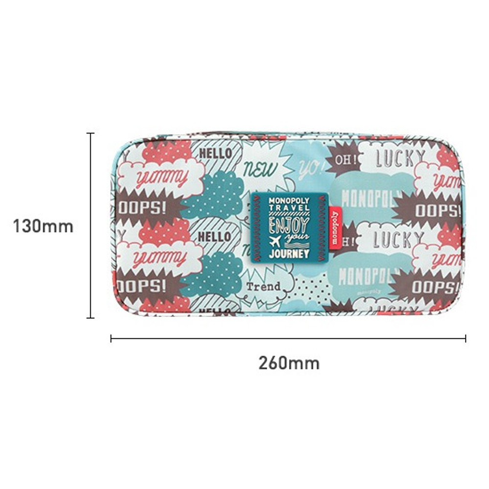 Size - Monopoly Enjoy journey travel pouch bag for underwear and bra