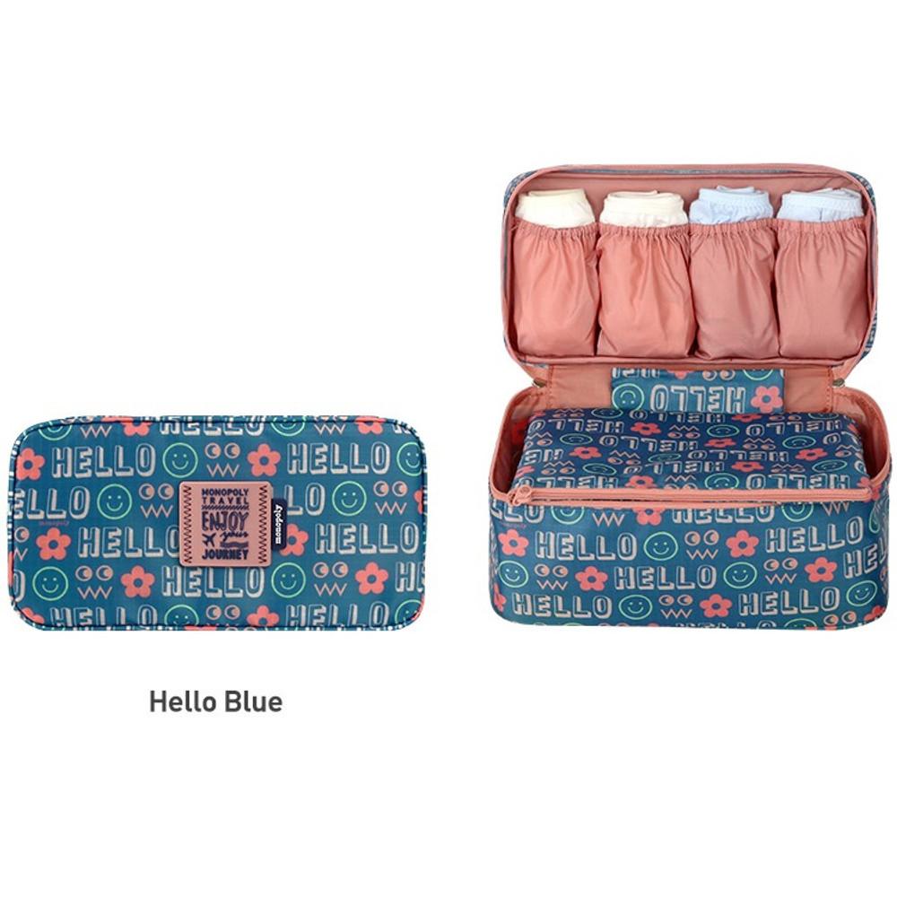 Enjoy journey travel pouch bag for underwear and bra