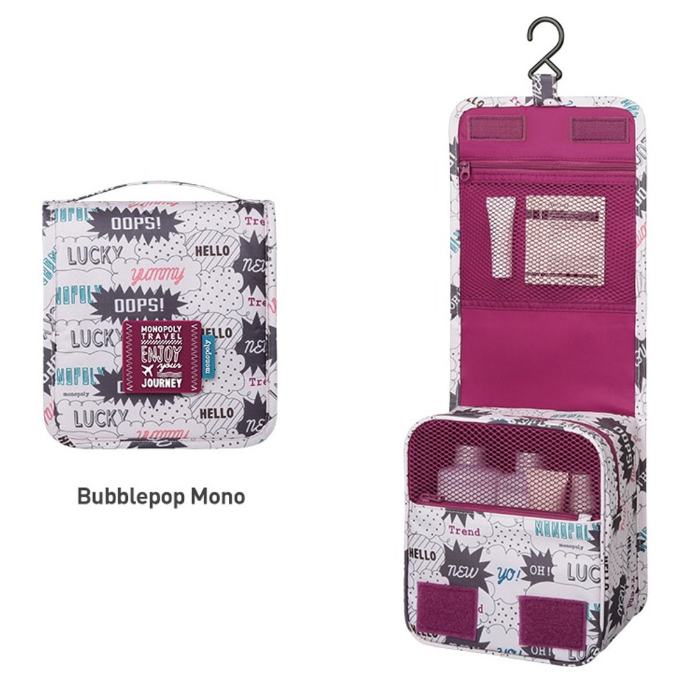 Bubblepop mono - Monopoly Enjoy journey small travel hanging toiletry pouch bag