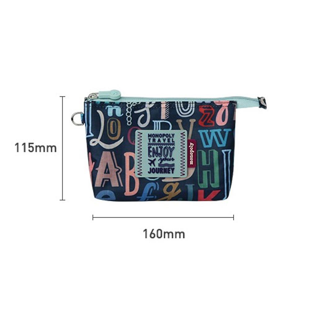 Size - Monopoly Enjoy journey travel small mesh zipper pouch
