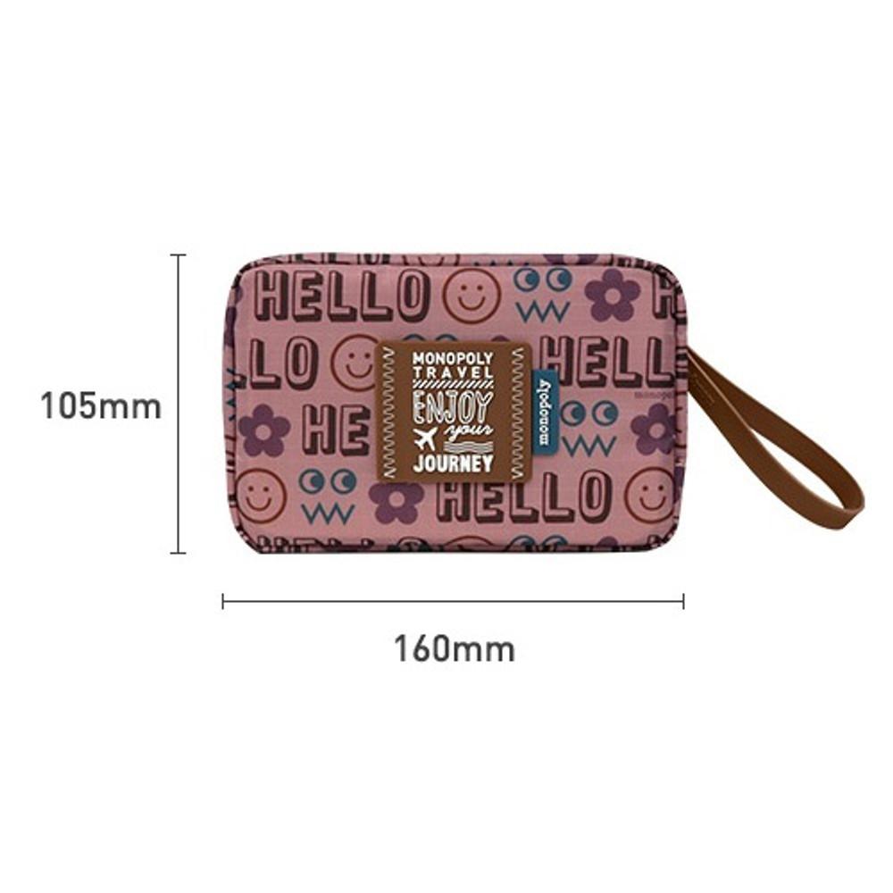 Size - Monopoly Enjoy journey travel small multi zipper daily pouch