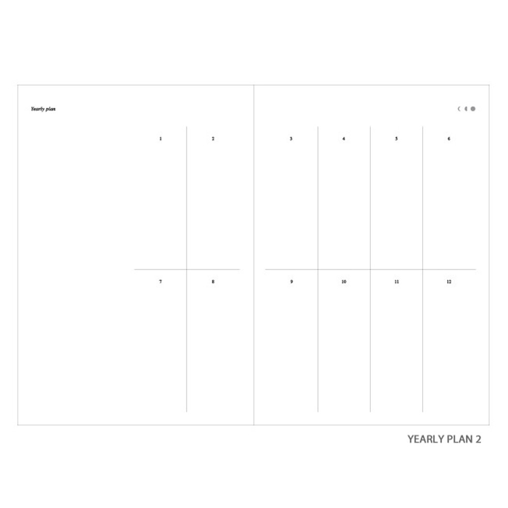 Yearly plan 2 - Moon rabbit hardcover undated weekly diary planner