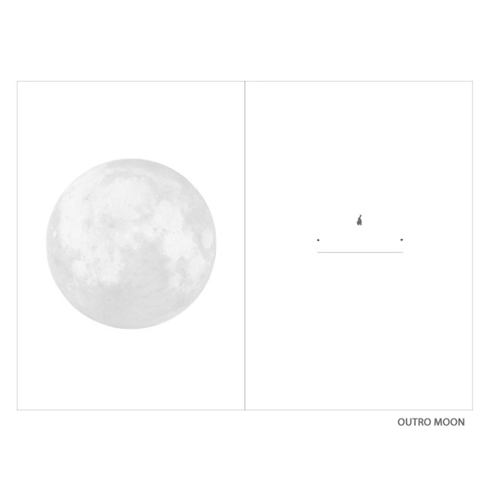 Outro moon - Moon rabbit hardcover undated weekly diary planner