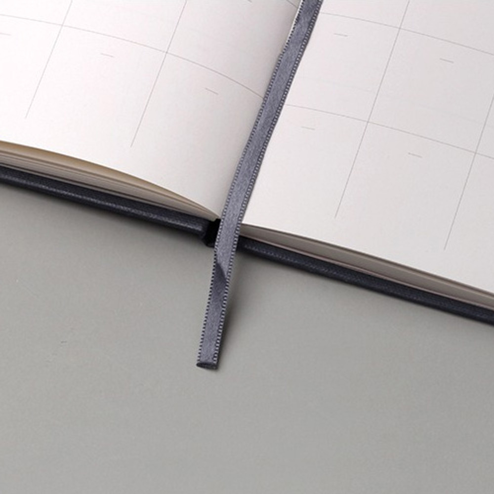 Ribbon bookmark - Moon rabbit hardcover undated weekly diary planner
