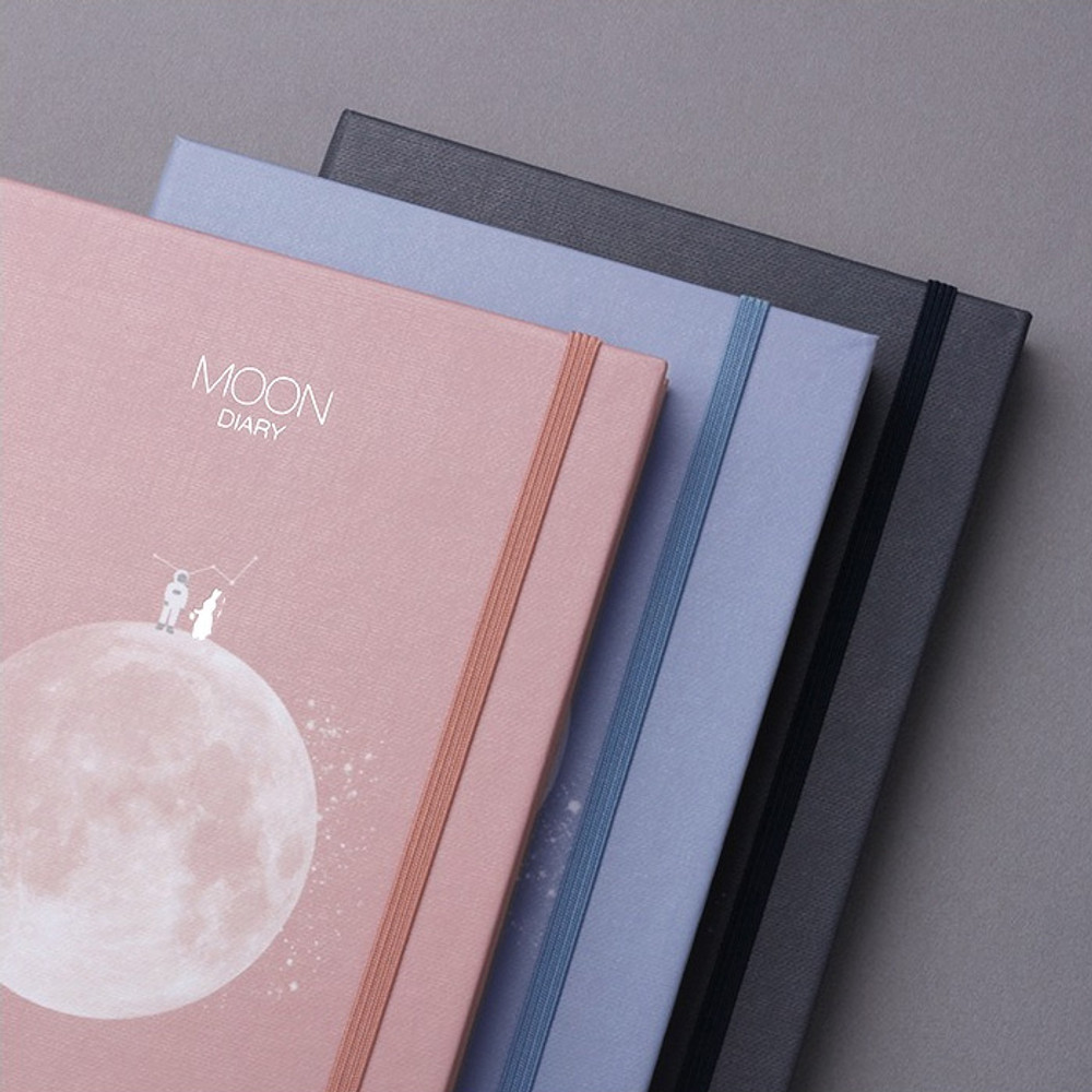 Elastic band closure - Moon rabbit hardcover undated weekly diary planner