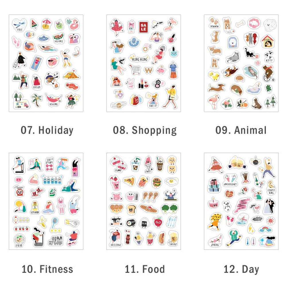 Composition of Everyday deco clear sticker set
