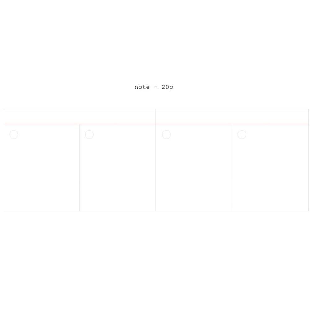 Note - Moment undated weekly planner scheduler