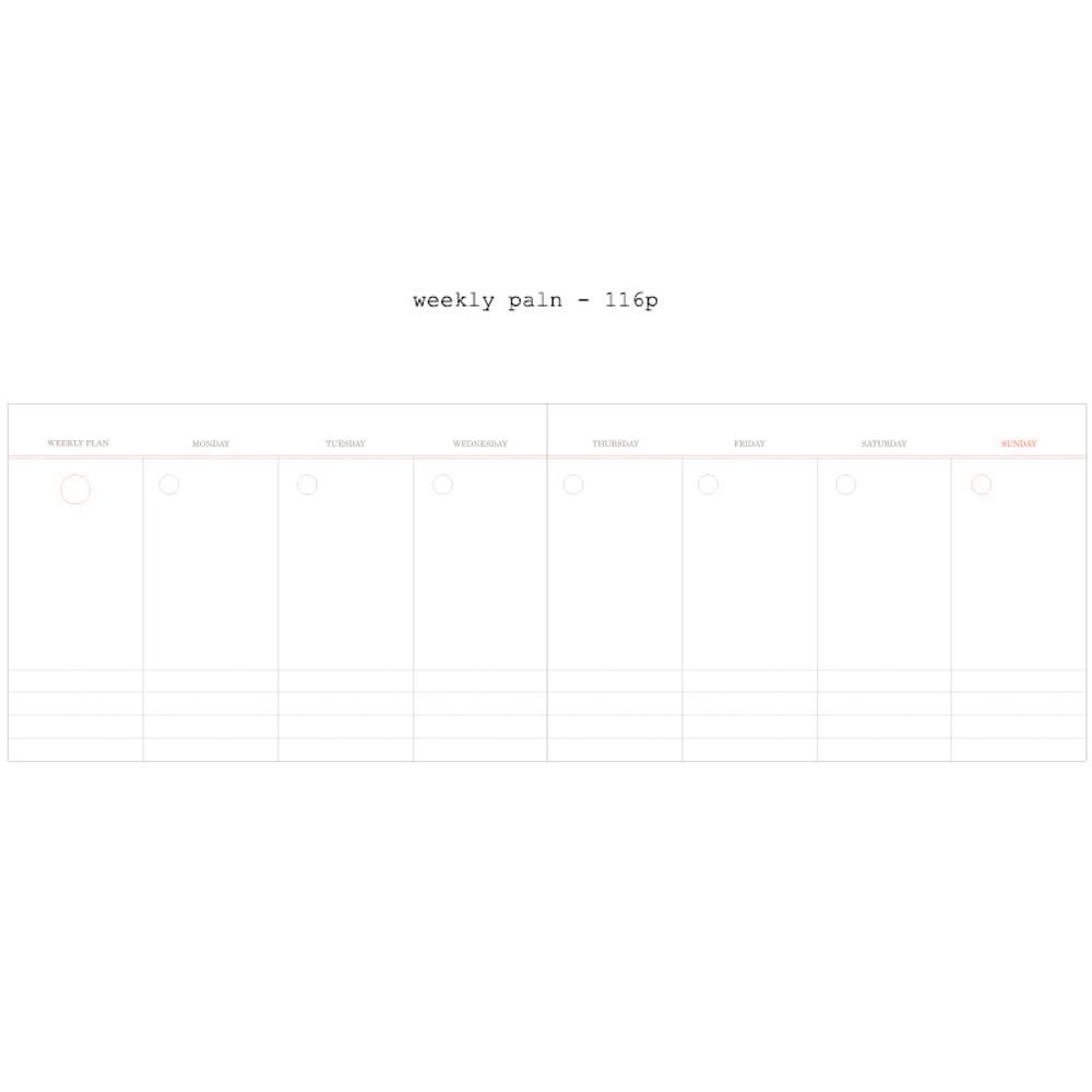 Weekly plan - Moment undated weekly planner scheduler