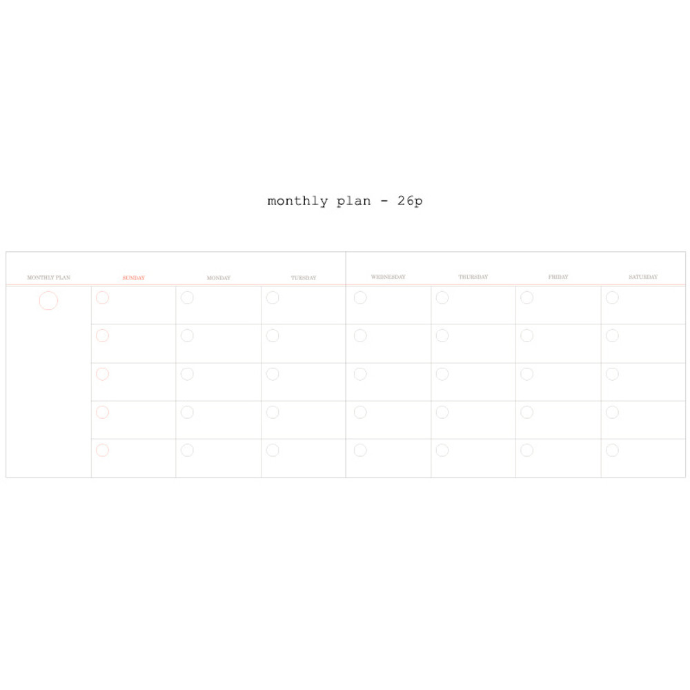 Monthly plan - Moment undated weekly planner scheduler