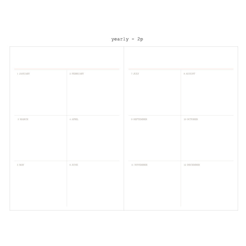 Yearly - 2019 Moment dated weekly diary