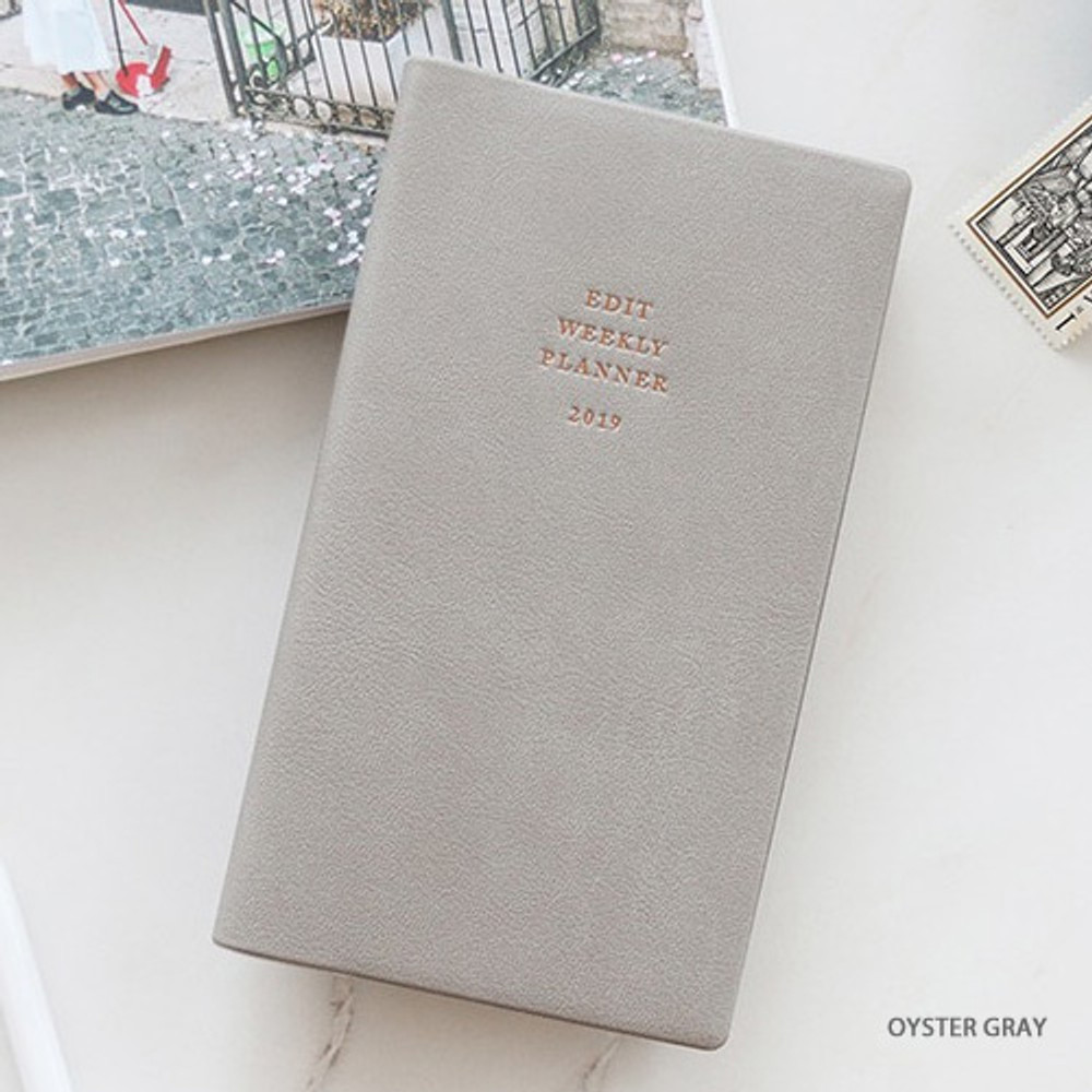 Oyster gray - Paperian 2019 Edit small dated weekly diary planner