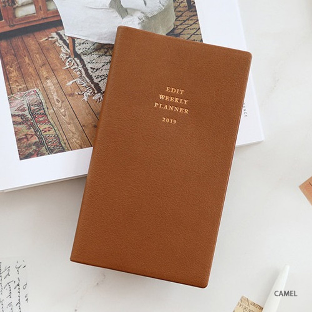 Camel - Paperian 2019 Edit small dated weekly diary planner