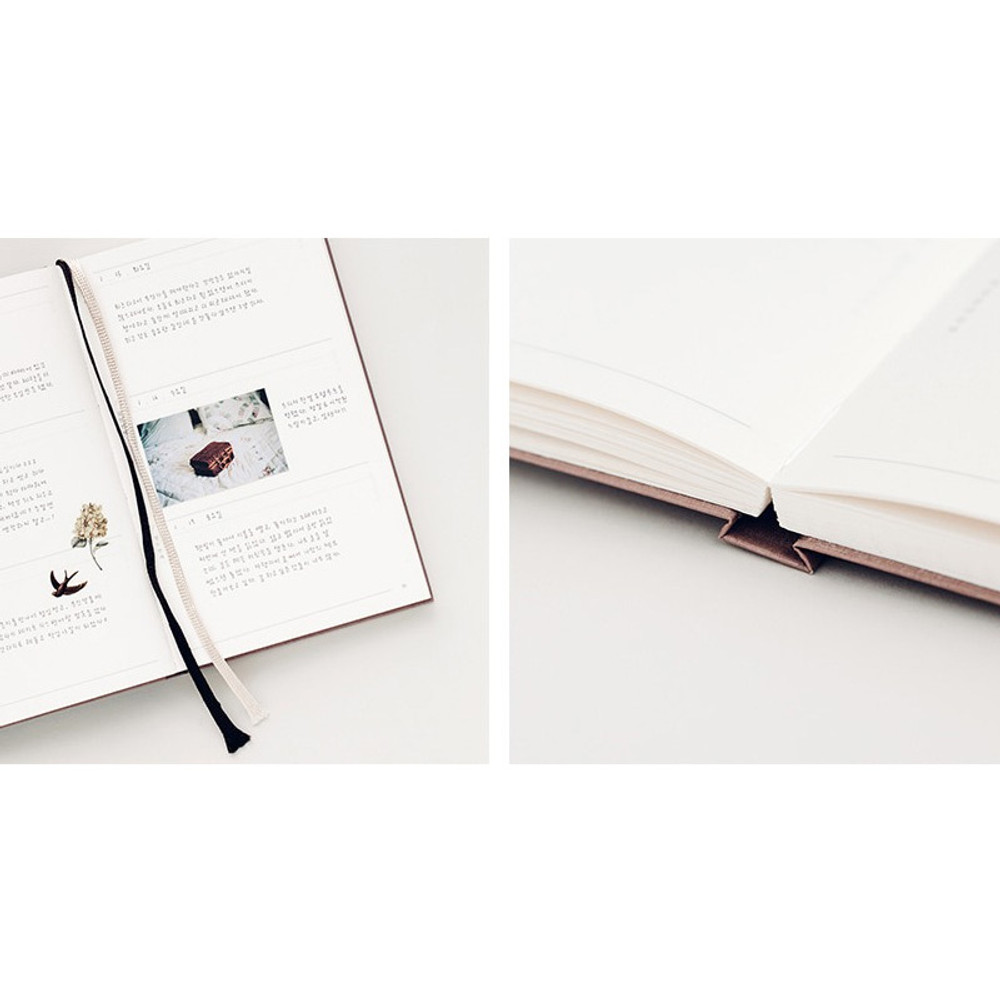 Detail of The Meaningful time large dateless daily diary journal