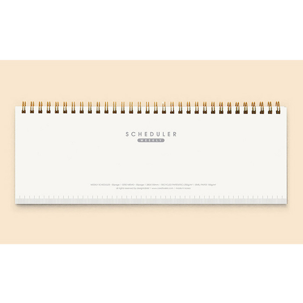 Cover - Creative spiral dateless weekly desk planner