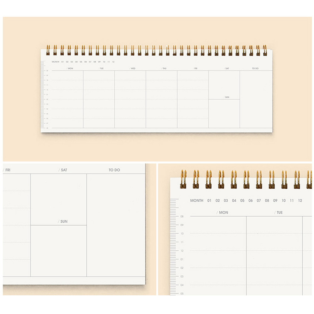 Weekly - Creative spiral dateless weekly desk planner