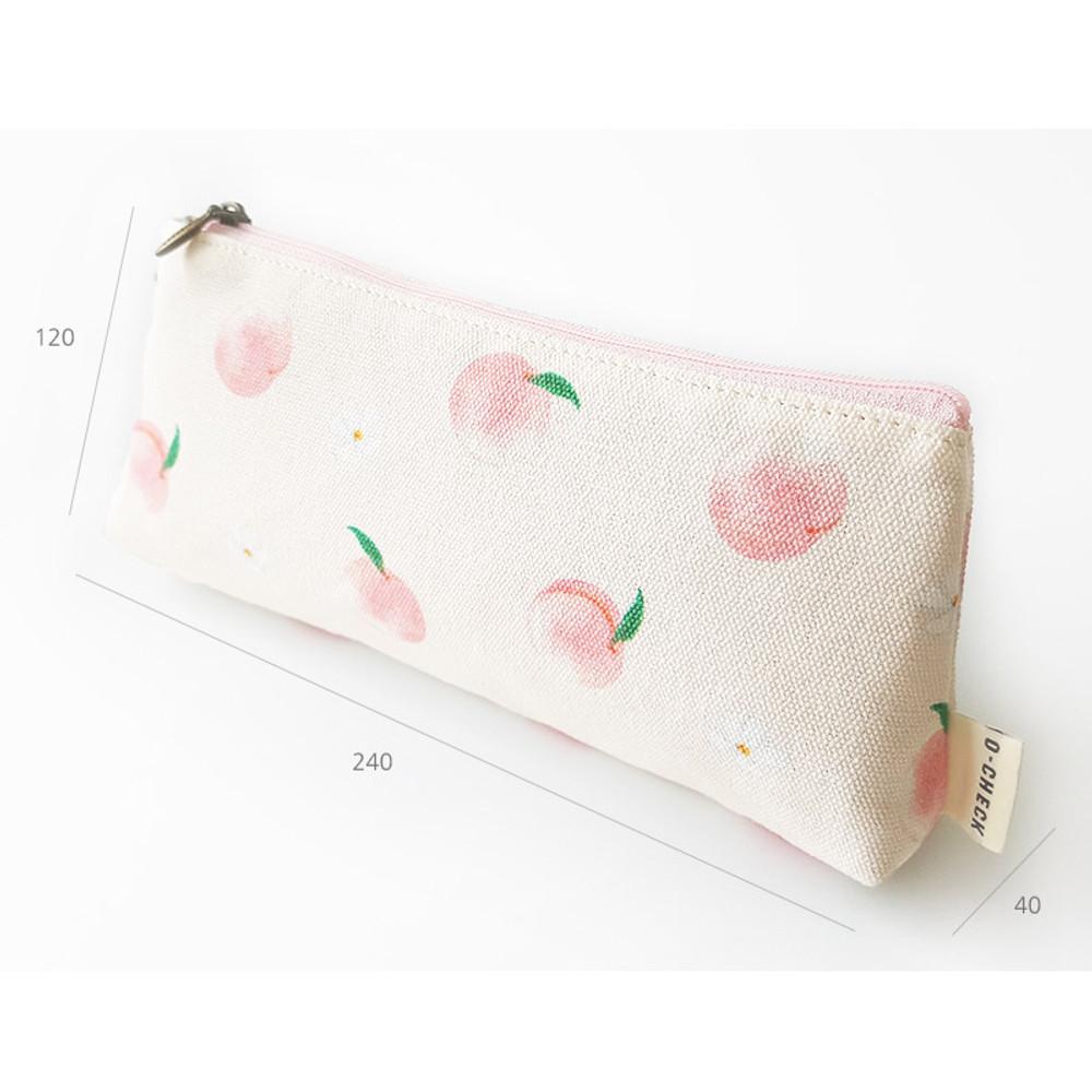 Size - O-check Pattern cotton pencil case pouch