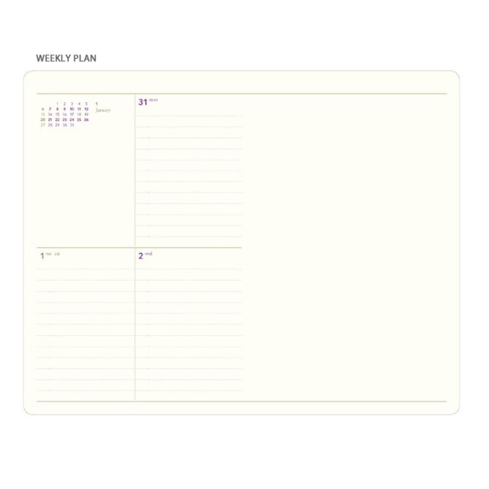 Weekly plan - 2019 Slim and sensible medium dated weekly planner