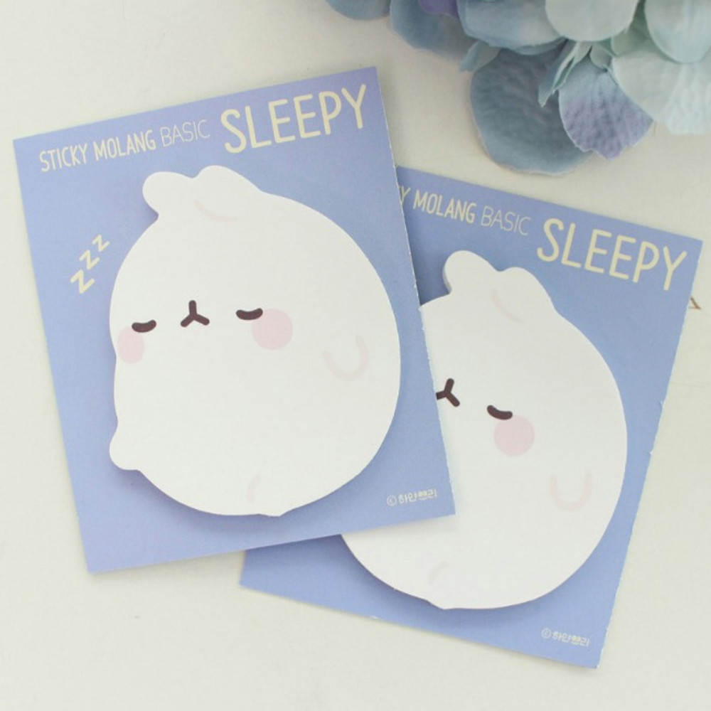 Sleepy - Bookcodi Molang basic cute sticky memo note ver3
