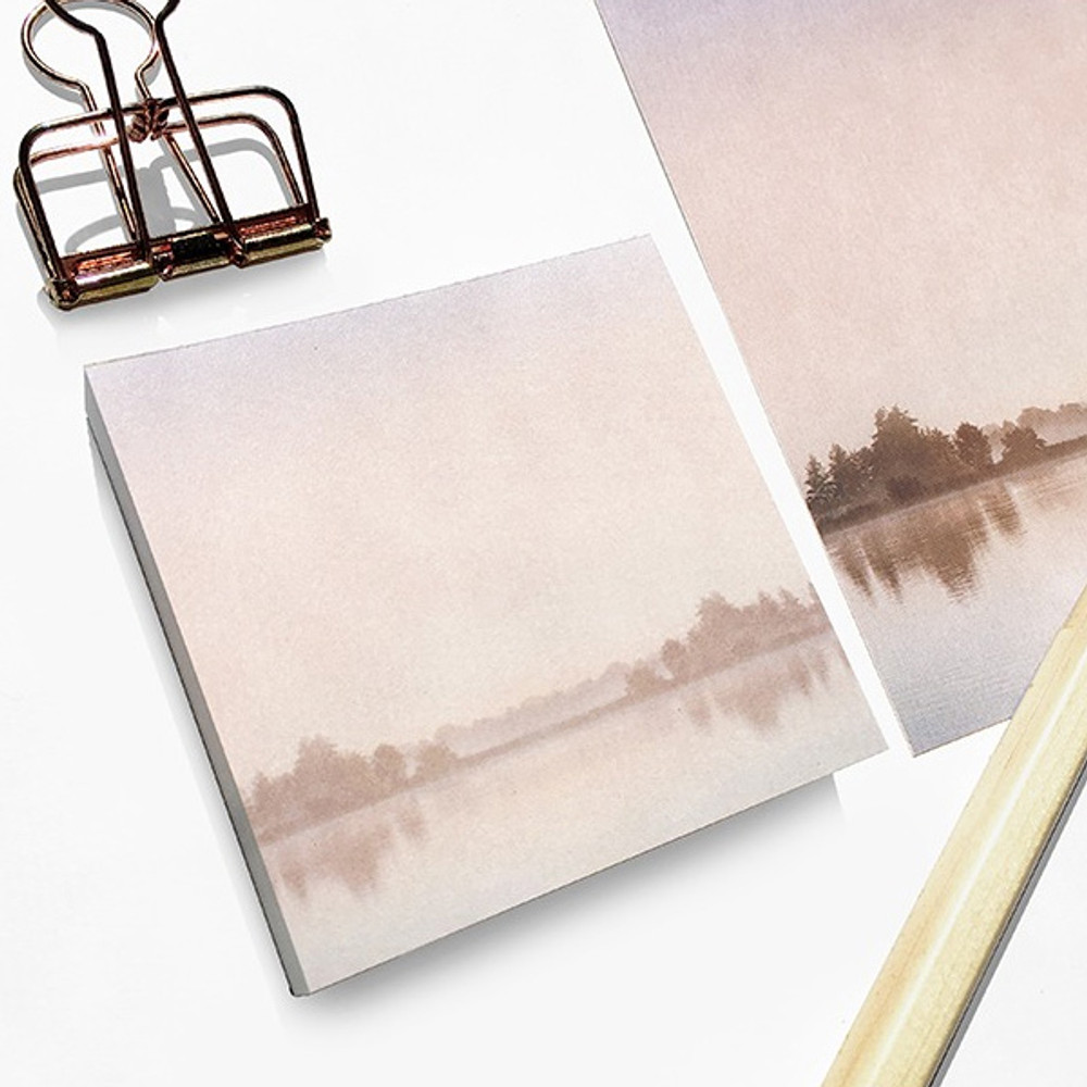 Lake - O-check Four seasons plain memo notepad
