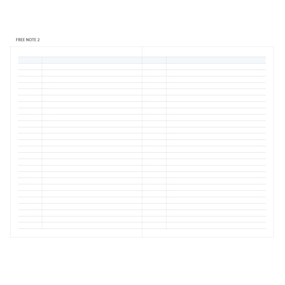 Free note - 2019 Bright day dated weekly diary