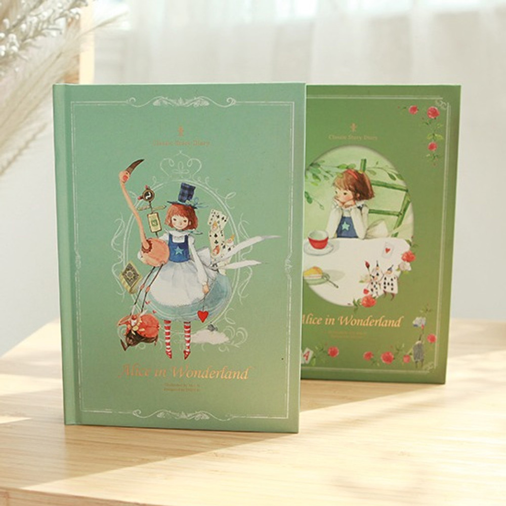 Indigo Alice in wonderland hardcover dateless daily diary planner