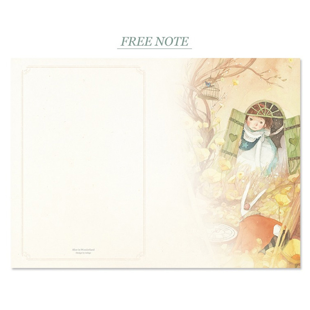 Free note - Alice in wonderland hardcover dateless daily diary