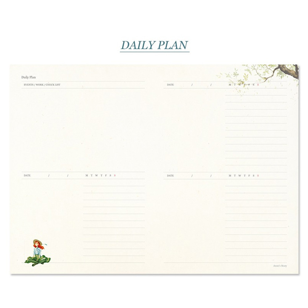 Daily plan - Anne story hardcover dateless daily diary