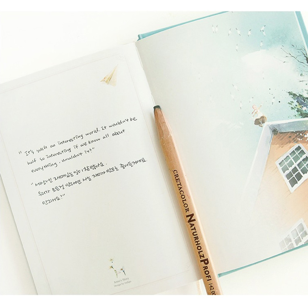 Free note - Anne story hardcover dateless daily diary