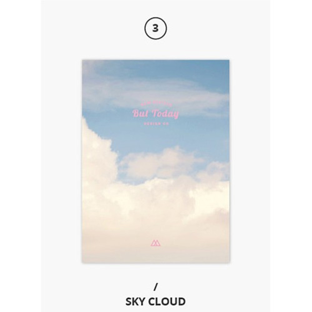 Sky cloud - But today dateless weekly diary agenda ver5