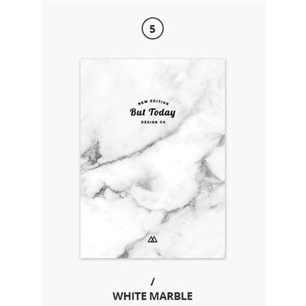 White marble - But today dateless weekly diary agenda ver5