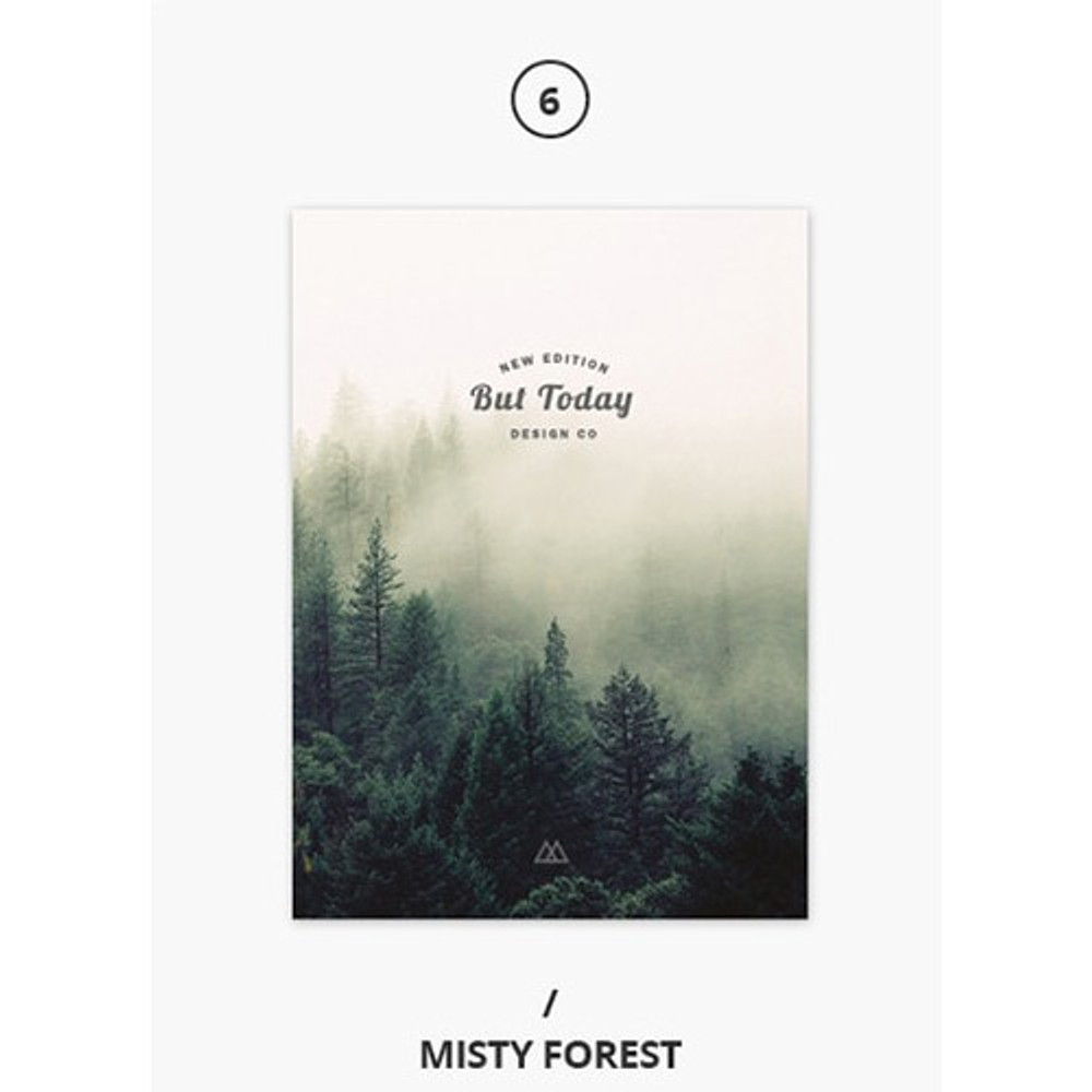 Misty forest - But today dateless weekly diary agenda ver5