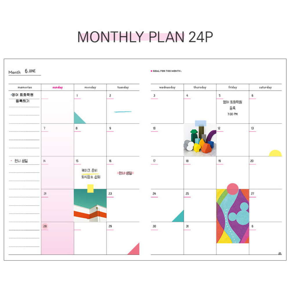 Monthly plan - But today dateless weekly diary agenda ver5