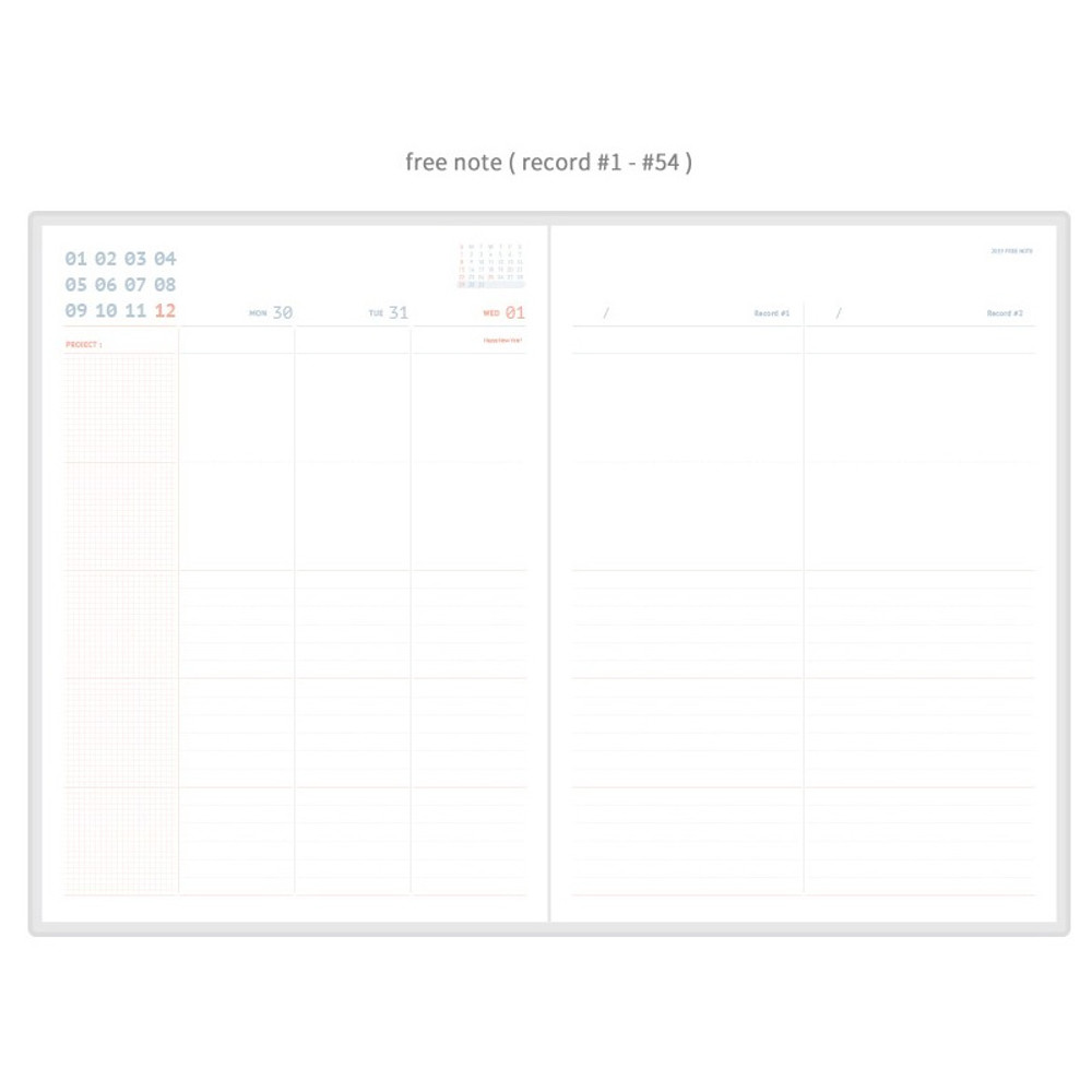 Free note - ROMANE 2019 Oui 365 for workaholic dated weekly planner