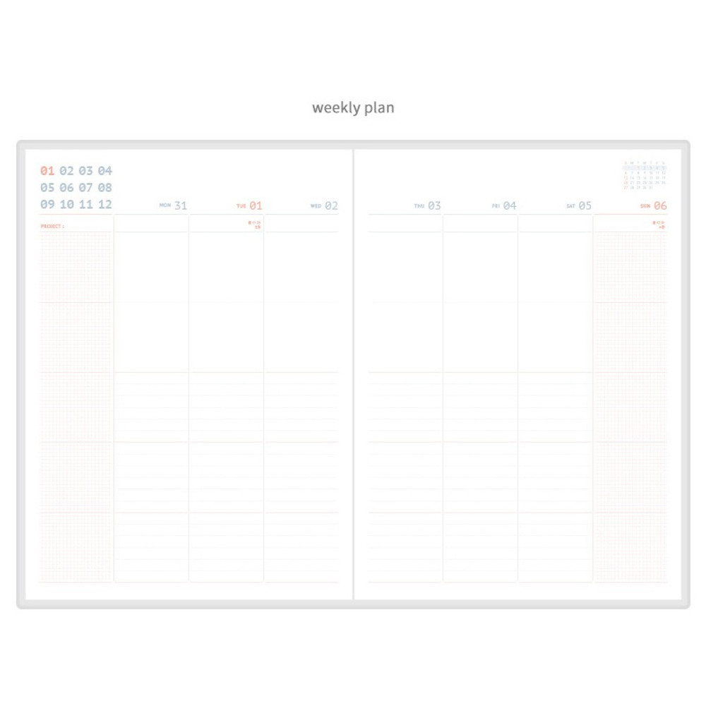 Weekly plan - ROMANE 2019 Oui 365 for workaholic dated weekly planner