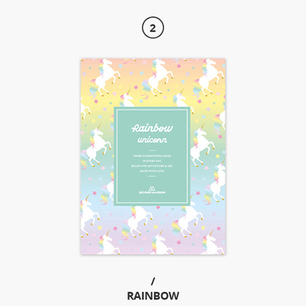 Rainbow - Rainbow dateless weekly diary planner