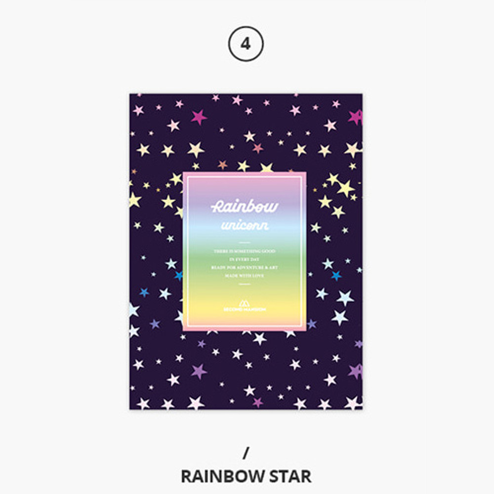 Rainbow star - Rainbow dateless weekly diary planner