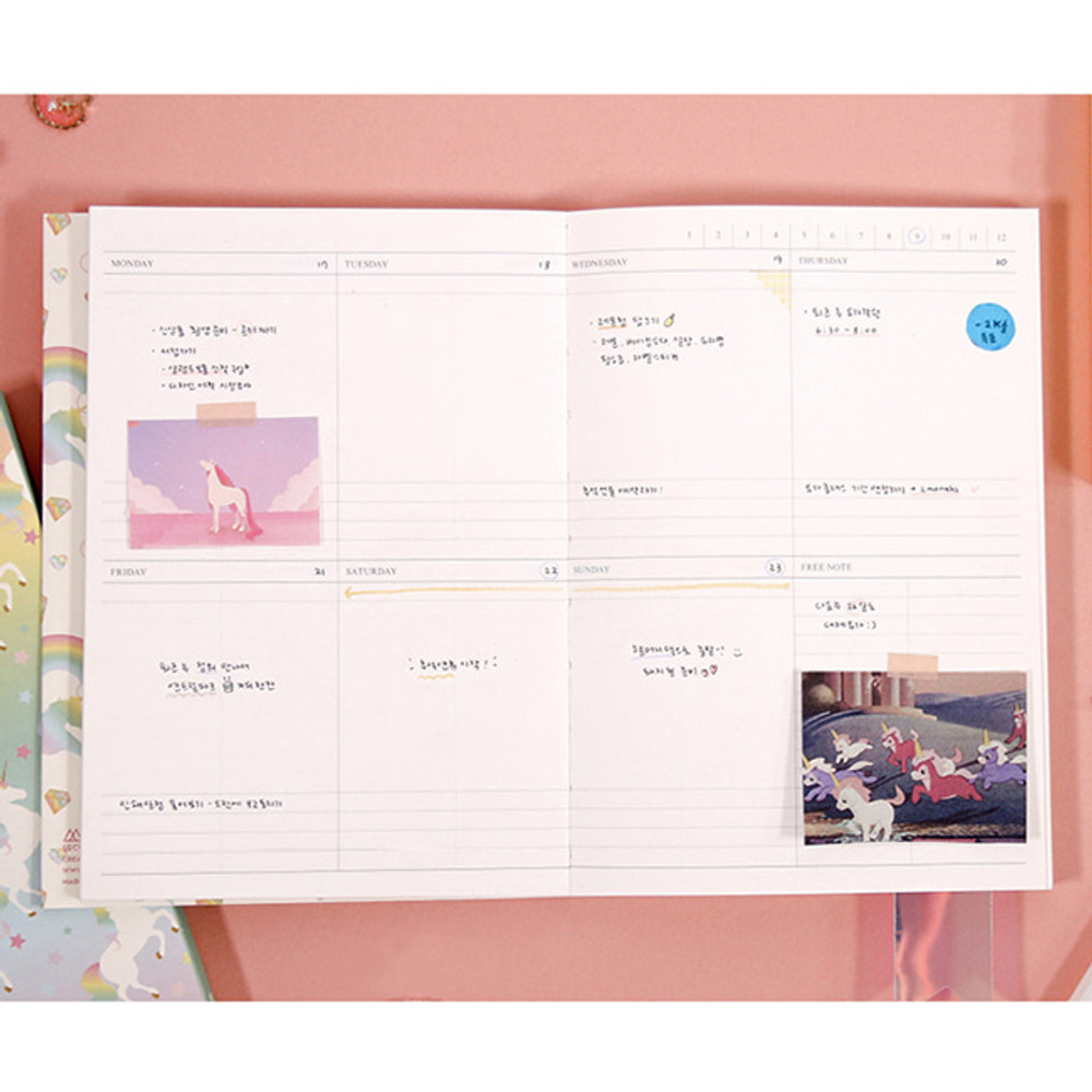 Weekly plan - Rainbow dateless weekly diary planner