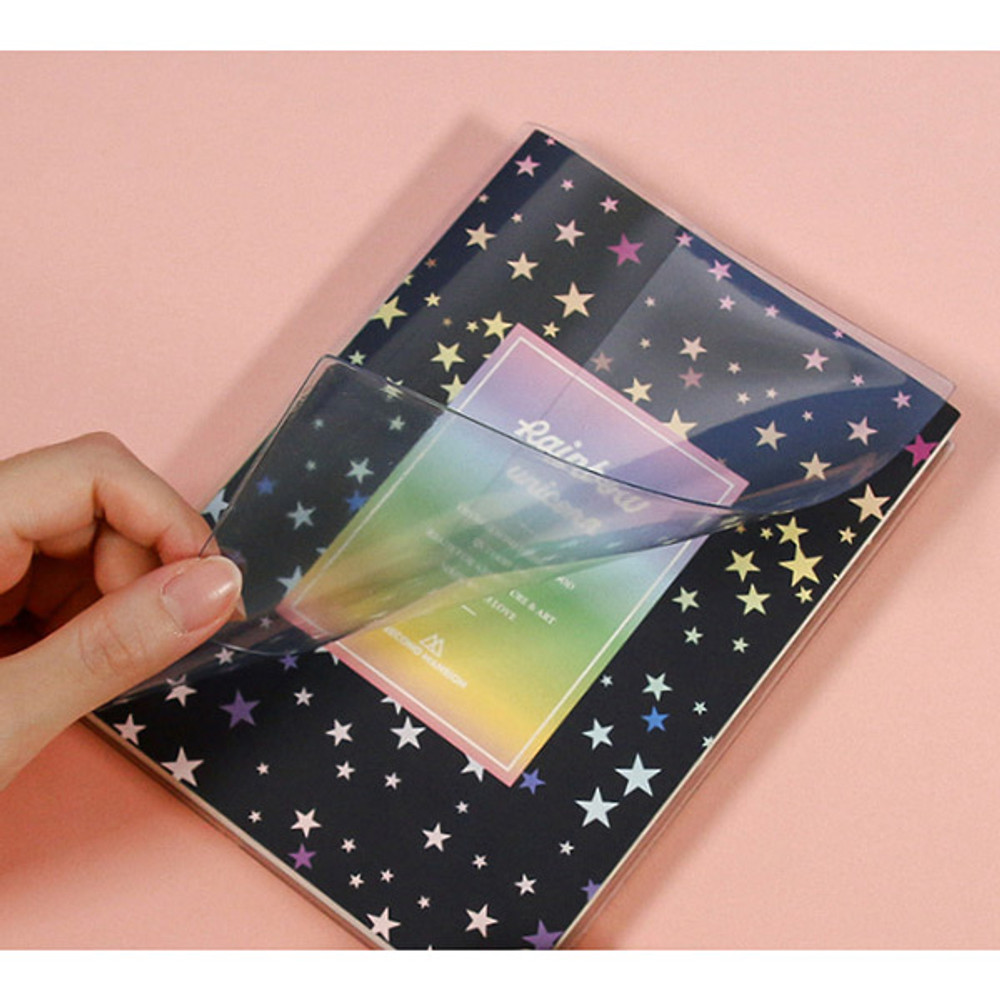 Clear PVC cover - Rainbow dateless weekly diary planner