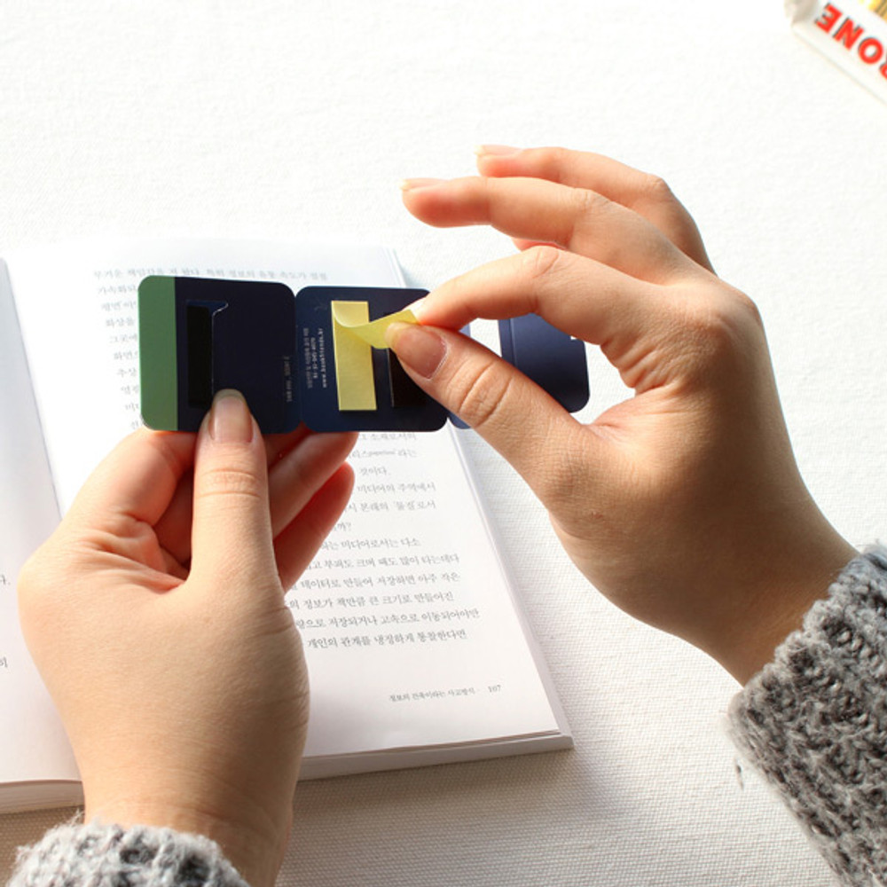 How to use - Scent of book magnetic bookmark with sticky notes
