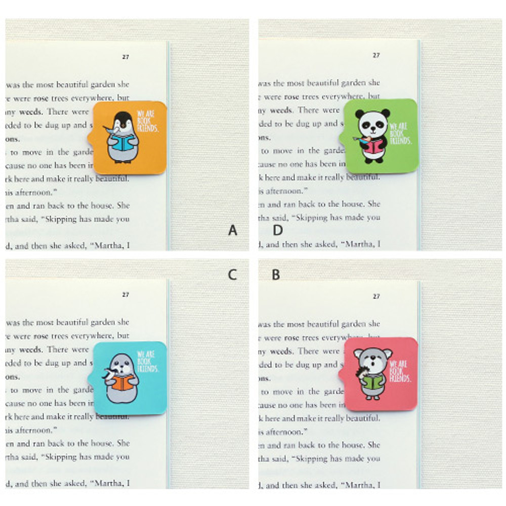 Animal magnetic bookmark