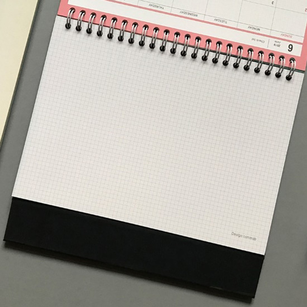 Free note - 2019 Colorful illustration dated monthly desk scheduler